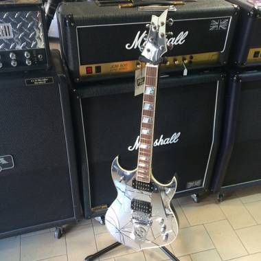 Silvertone PSSN 5 Paul Stanley Signature (KISS)  Acrylic Cracked Mirror OFFERTA