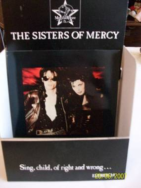 Sisters of mercy corrosion- display per negozi di dischi introvabile