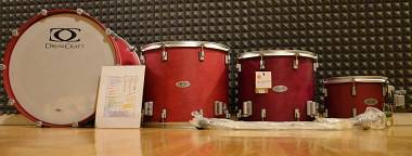 DrumCraft Serie 8 Drum Craft in Acero. Cassa + Tom + Timpano 16 + Timpano 18