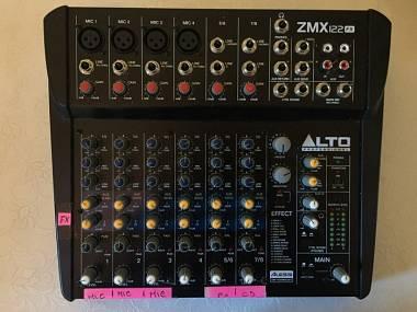 Alto zmx122 fx mixer 8 canali con effetti integratI