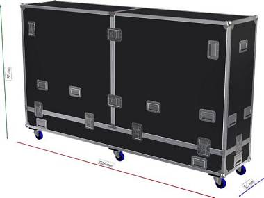 FLIGHTCASE PER SMART DISPLAY LCD  98""