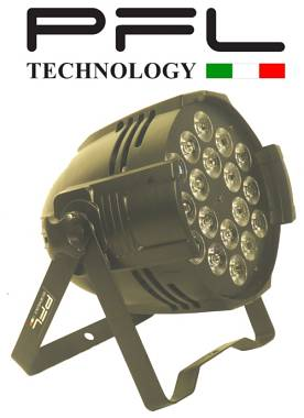 PAR LED 18 X 10 W FULL COLOR RGBW 4 IN 1    PFL TECHNOLOGY OFFERTA NUOVO