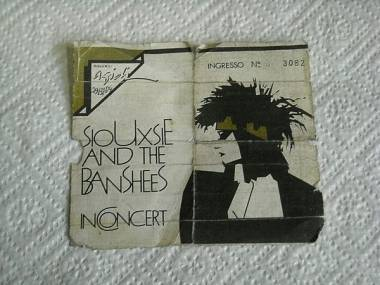 Ticket SIOUXSIE AND THE BANSHEES italian tour 1984