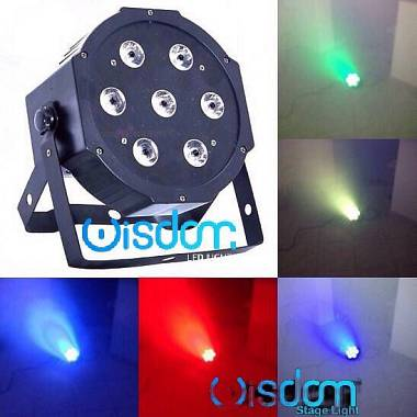 Slim par led 7x10 RGBW 4in1 full color luci palco dj show dmx strobo discoteca