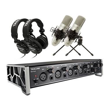 TASCAM TRACKPACK 4X4 KIT INTERFACCIA SCHEDA AUDIO US 4X4 + 2 MICROFONI TM80  + 2 CUFFIE d7f325053c18