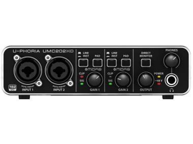 Behringer Umc202hd - Interfaccia Audio 2x2 Usb 24 Bit/192 Khz Con Preamp Midas E Phantom +48v