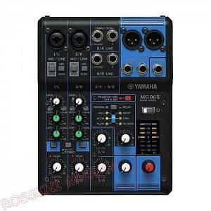 Yamaha Yamaha MG06X Mixer 2 ingressi mic/linea + 2 ingressi linea/mono + 2 ingressi linea/stereo, co