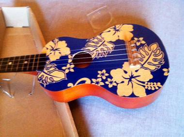 Ukulele USA Hawaii fiori Hawaiiani