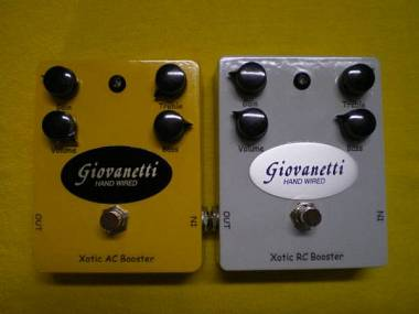 Giovanetti Hand Wired Xotic RC Booster (RC Bass Booster) e AC Booster