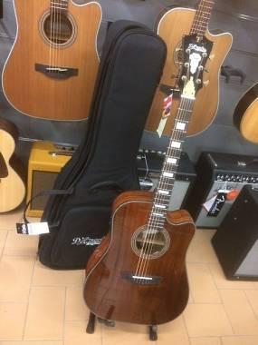 D'Angelico Guitars DAED500K NAT Excel Bowery Koa Chitarra acustica ampl. + bag