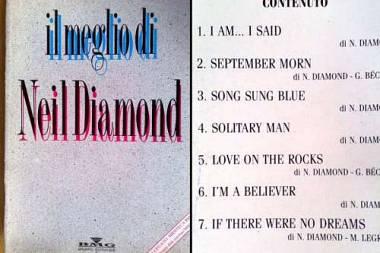 Spartito Il meglio di Neil Diamond raccolta spartiti successi internazionali