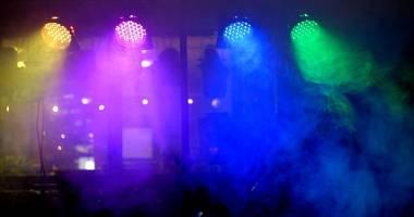 Fari par 64 a led RGBW dmx effetti luci dj laser faretti teste mobili