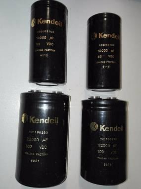 Condensatori kendeil 22000 uf 100 volt-10.000 63v