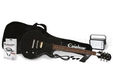 Epiphone Les Paul Pro1 Jr. Performance Pack Ebony - Kit Con Chitarra Elettrica Nera, Amplificatore,