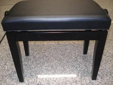 Panca per pianoforte in legno massiccio colore nero satinato
