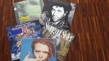 5 LP vinile di artisti stranieri degli anni '80 (Simply Red, Europe, ecc.)