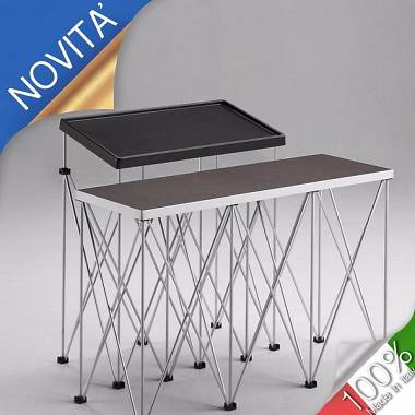 Supporto Tavolo console DJ AMABILIA con strutture modulari e piano inclinato
