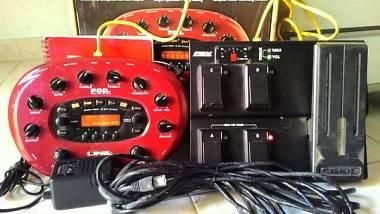 Line 6 Pod XT con pedalieda FBV Express con scatola manuale, alimentatore e cavi