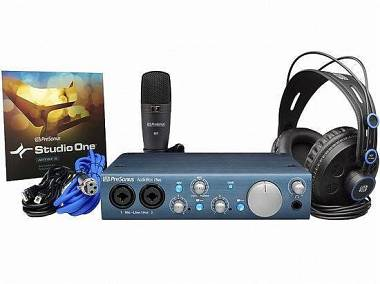 Presonus AUDIOBOX ITWO STUDIO BUNDLE SCHEDA AUDIO + MICROFONO+CUFFIA +SOFTWARE