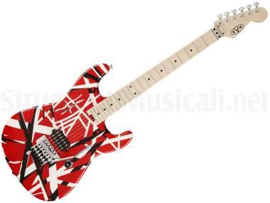 Evh Striped Series Red With Black Stripes - Chitarra Elettrica Rossa Con Strisce Nere