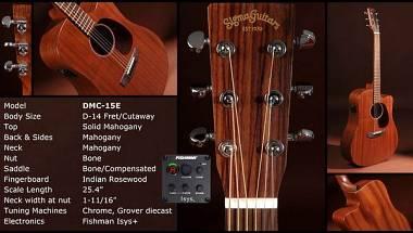 Sigma Guitars DMC 15E ACUSTICA AMPLIFICATA FISHMAN SATINATA MOGANO