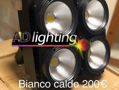 accecatore led 4x100w Rgb bianco caldo freddo blinder Dmx color change Strobo