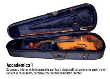 STENTOR ACCADEMICO 1 VIOLINO 1/4 IN MASSELLO MODELLO STENTOR PREPARATO