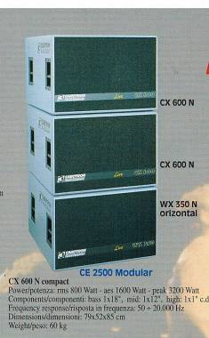 Cabotron modular CE 2500 - 3 way alta efficienza 5000 watt