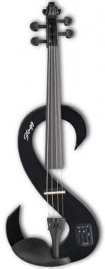 Stagg EVN 4/4 BK Violino Elettrico Completo 4/4, BLACK NERO