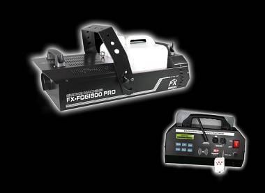 MACCHINA DEL FUMO FX FOG PRO Line 1800W DMX + TELECOMANDO