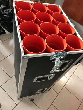 flight case per aste microfoniche diverse misure