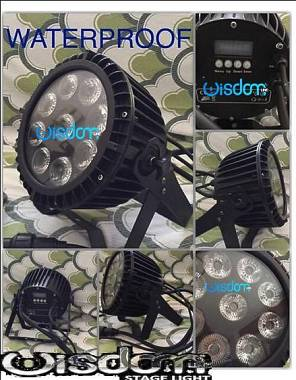ip 65 waterproof led par 9x20 rgbw 4in1 full color resistenti all'acqua