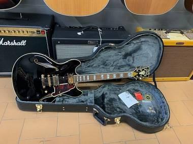 D'Angelico Guitars Excel DC Black Stopbar + Case originale