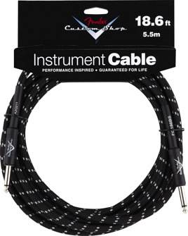 Fender - Custom Shop Cable 18.6 Ft. Black Tweed - Cavo per Chitarra