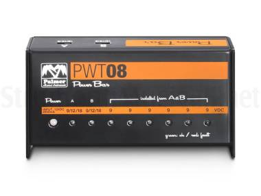 Palmer Pwt 08 - Alimentatore Per 8 Effetti A Pedale 2000ma