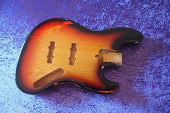 Jazz Bass Style 3 colori burst RELIC , Frassino Americano Ash