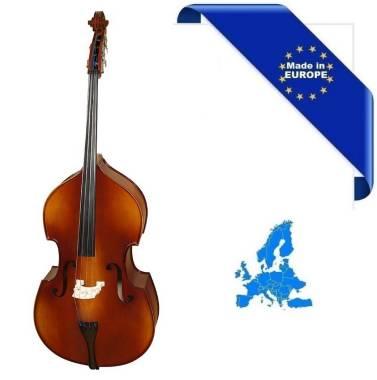 CONTRABBASSO 4/4 ALL MADE IN EUROPE TOP ABETE MASSELLO FONDO/FASCE ACERO MASSELLO TASTIERA/PIROLI EB