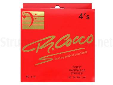 Cocco Rc4h - Corde Per Basso Elettrico Stainless Steel Round Wound 050/110