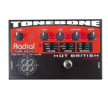 Radial Tone Bone Hot British pedale preamp valvolare preamplificatore distorsore
