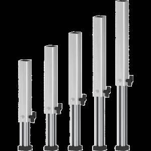 Protruss RSTL4060 Gambe telescopiche 40/60cm per pedana roadstage