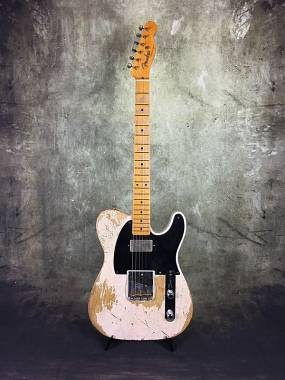 Fender Custom Shop Apparel Telecaster 52 Heavy Relic White Blonde Humbucker