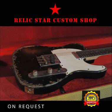 RELIC STAR CUSTOM SHOP t-'50 alnico 5 Telecaster Black on Sunburst