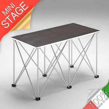 Tavolino modulare richiudibile 50x100 H90 cm per dj station/mixer