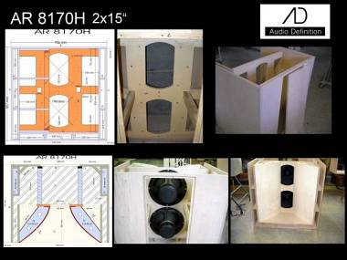 "AUDIO DEFINITION P.A. ""AR8170H 2x15"""