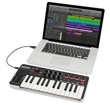 Samson GRAPHITE M25  - tastiera Mini Controller Midi USB - 25 Tasti + pad