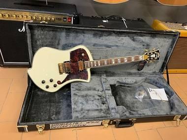 D'Angelico Guitars Deluxe Ludlow White Trem Tremolo + Case originale