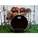"DW Drums Collector's Exotic ""VLT"" TWISTED OLIVE NATURAL TO CANDY BURGUNDY 7pezzi"