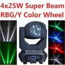 super beam led 4 x 25 teste mobili
