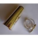 legatura D.Bonade per clarinetto in SI b, argentata, con copri-bocchino