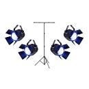 SOUNDSATION Set per Illuminazione Palcoscenico 4 PAR-100W-W-COB con Stand